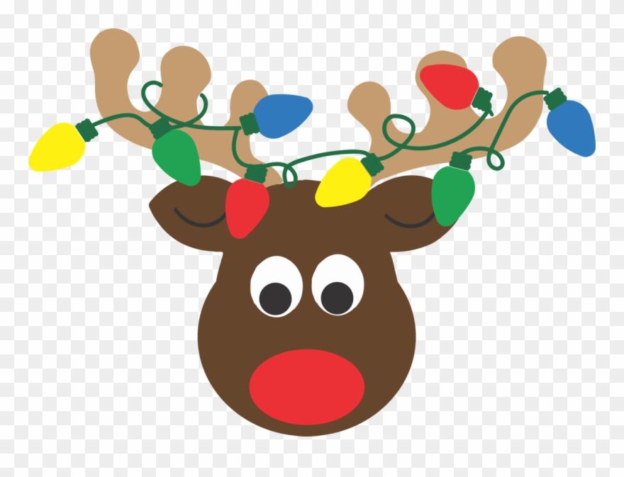 Reindeer Head With Lights.