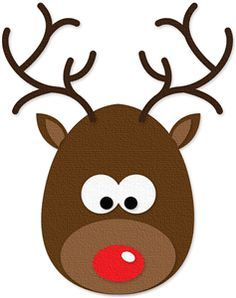 Rudolph the red nosed reindeer head clipart #1.