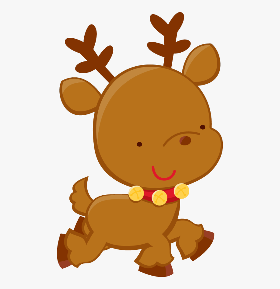 Christmas Baby Reindeer Clipart #70255.