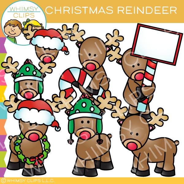 Christmas Reindeer Clip Art.