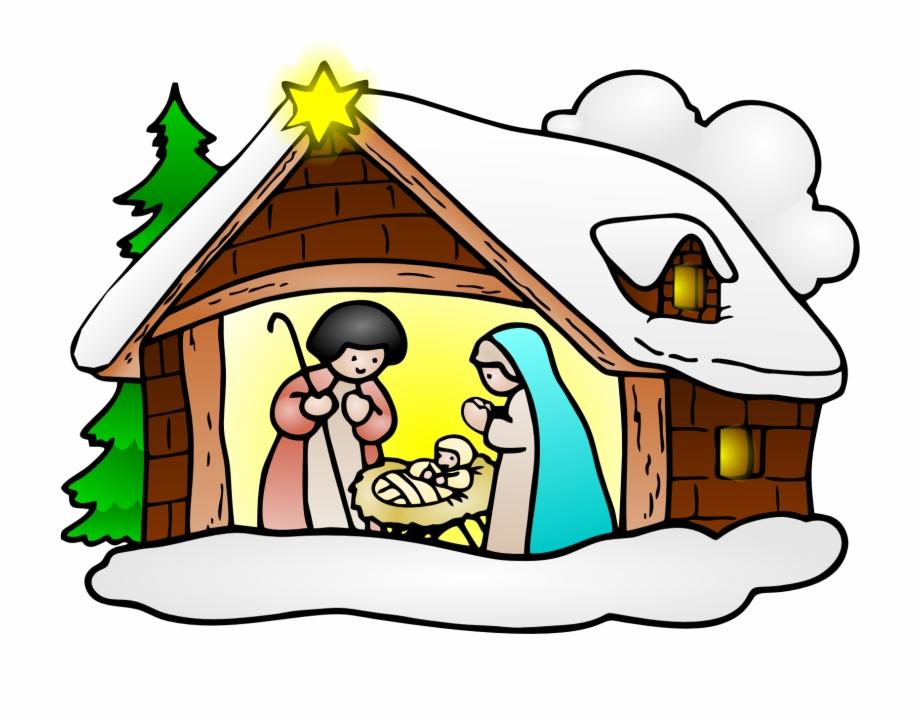 Clip Clipart Christmas Religious.