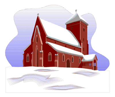 Clipart Christmas Church.