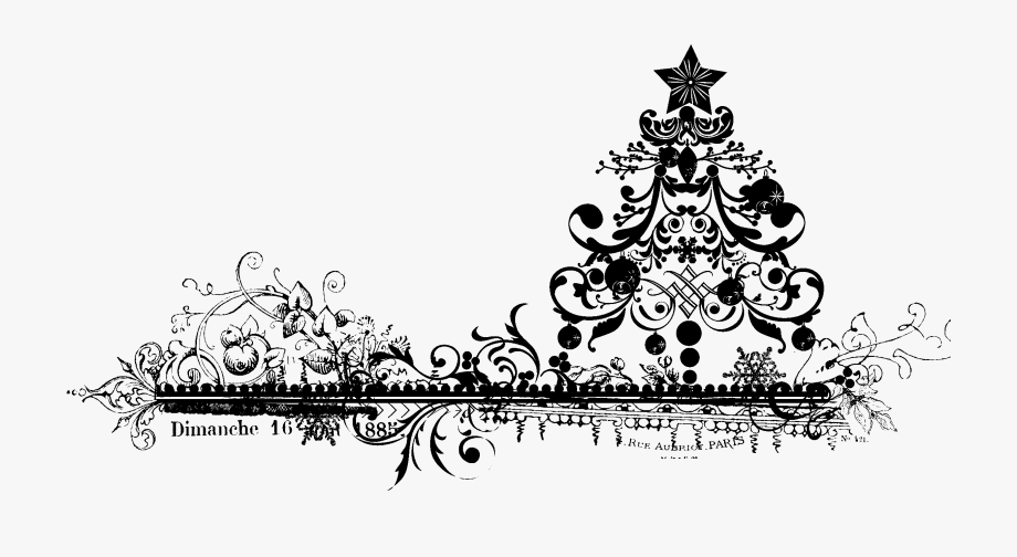 Snowflake Border Black And White Png Transparent.