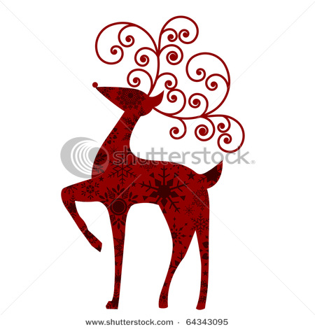 Christmas Deer Clipart.