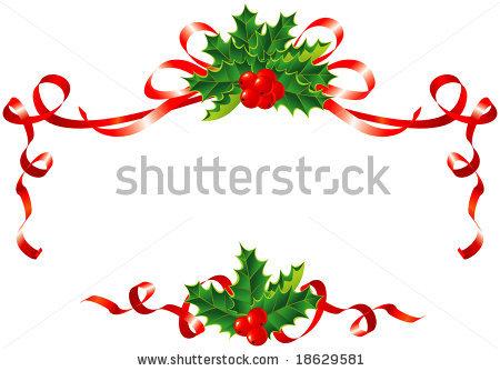 Christmas Ribbon Border Clipart.