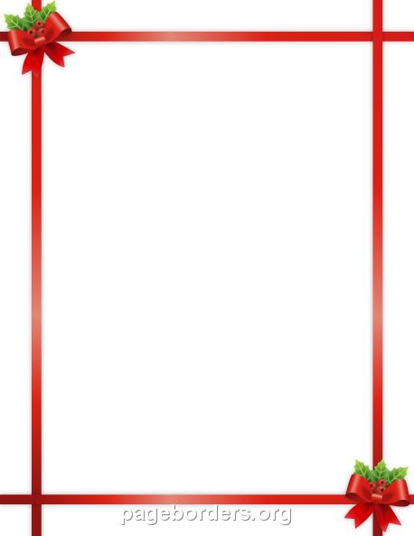Christmas Ribbon Border: Clip Art, Page Border, and Vector Graphics.
