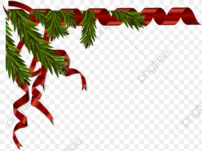 Christmas Ribbon Border, Ribbon Clipart, Christmas, Red PNG.