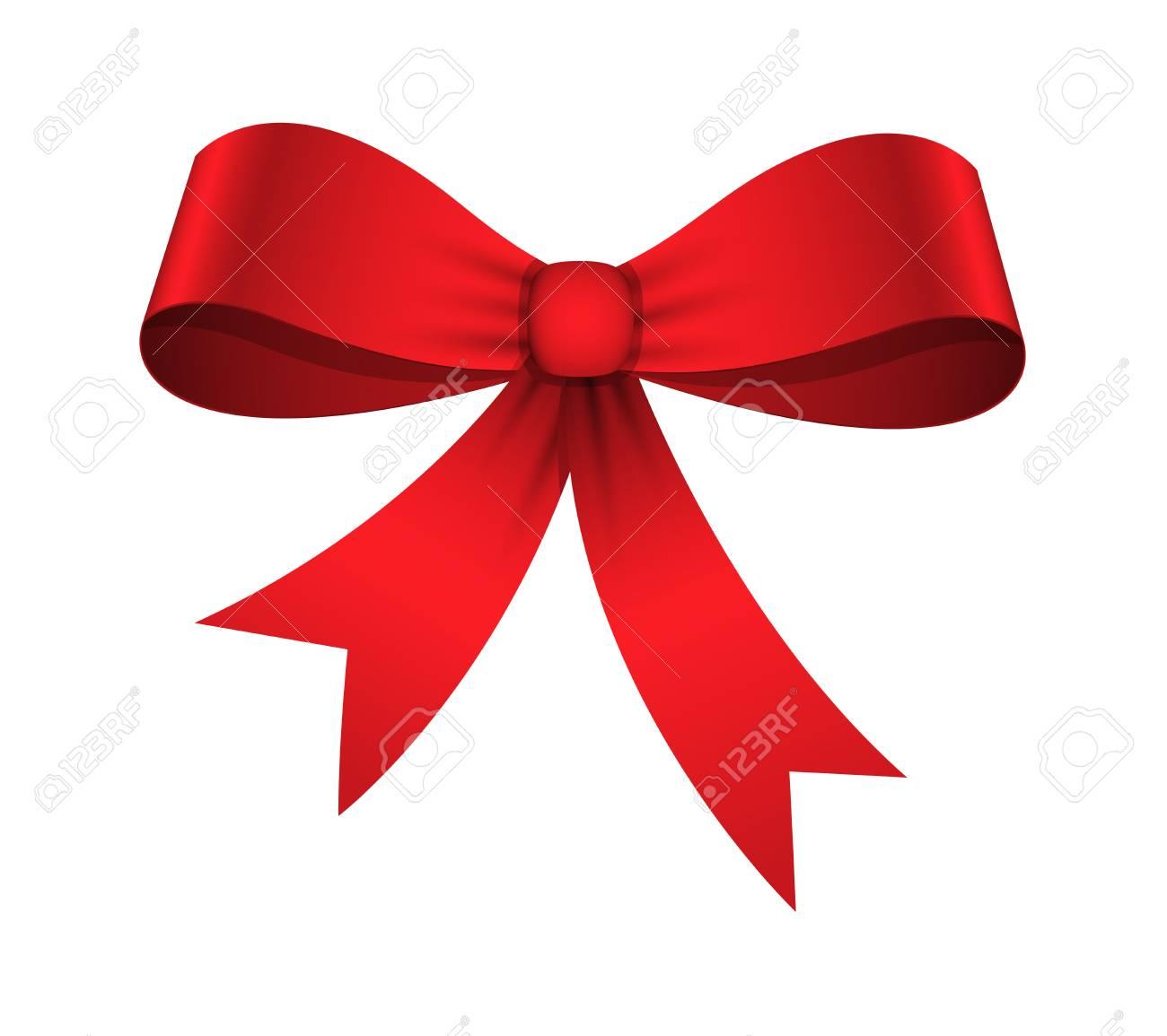 Christmas Ribbon Bow Vector.