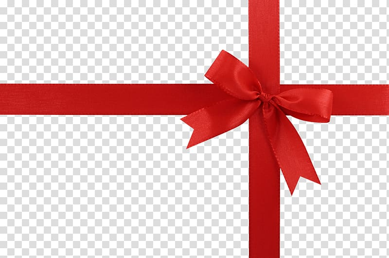Christmas Ribbon Gift , Gift Red Ribbon transparent background PNG.