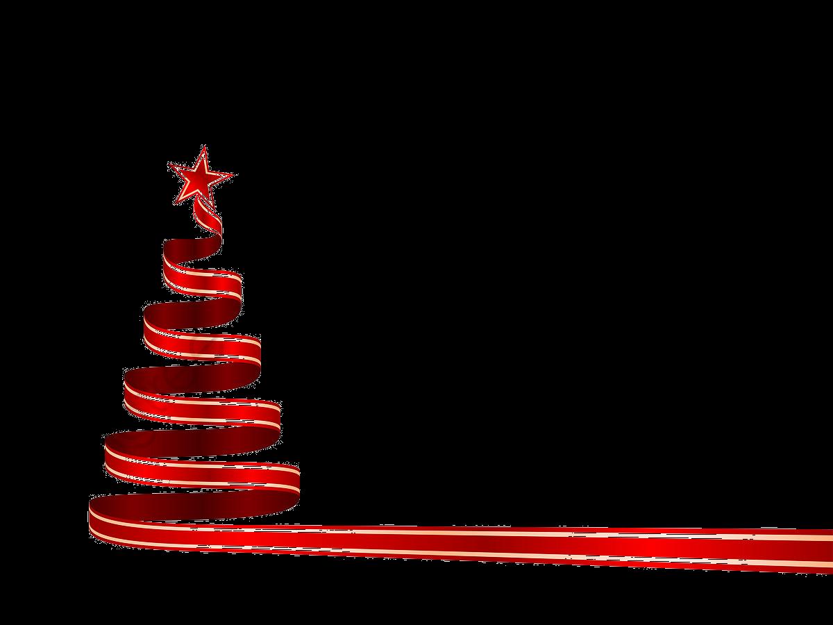 Christmas Ribbon, Ribbon Clipart, Colored Ribbon, Red Tape PNG.