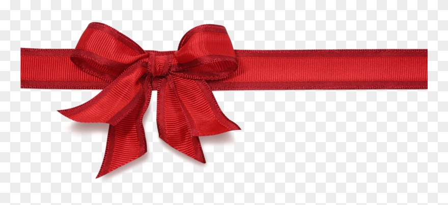 Red Christmas Ribbon Png Hd.