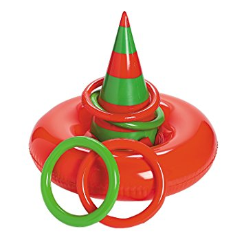 Amazon.com: Inflatable ELF HAT Ring Toss CHRISTMAS Party GAME.