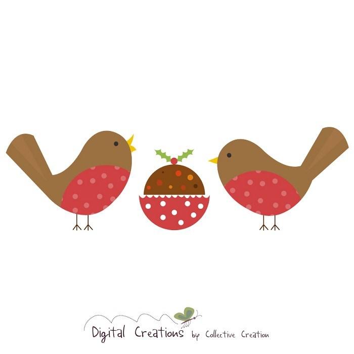 Christmas robin clipart 6 » Clipart Portal.