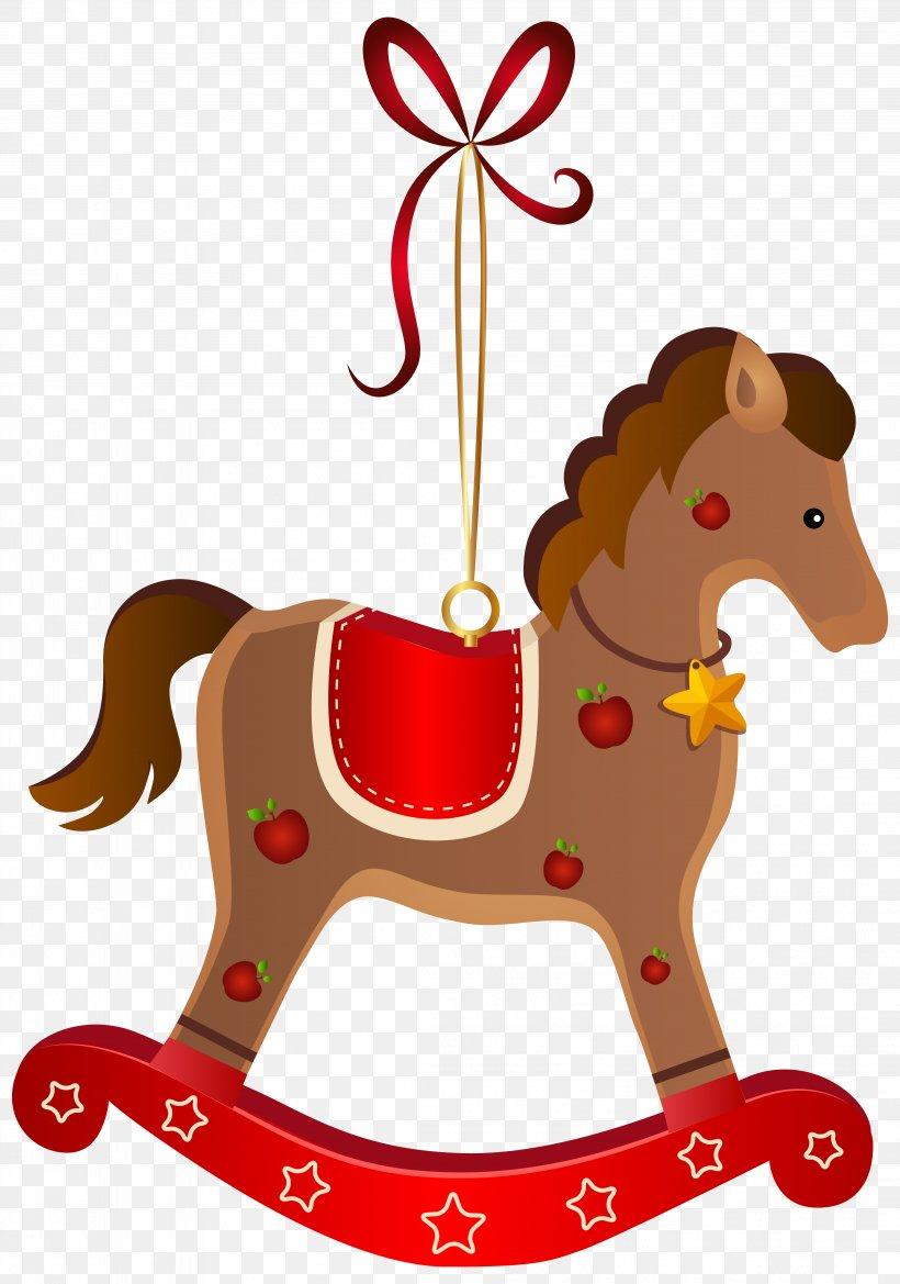 Rocking Horse Santa Claus Christmas Clip Art, PNG.