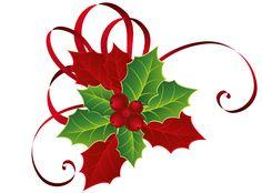 Christmas Watercolor Clip Art.