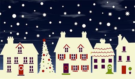 Christmas House Clipart.