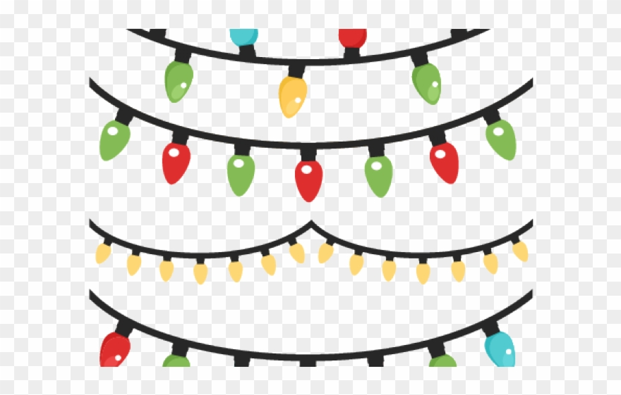 Christmas Lights Clipart Row.