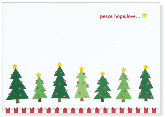 Sparkly Christmas Trees Christmas Boxed Card.
