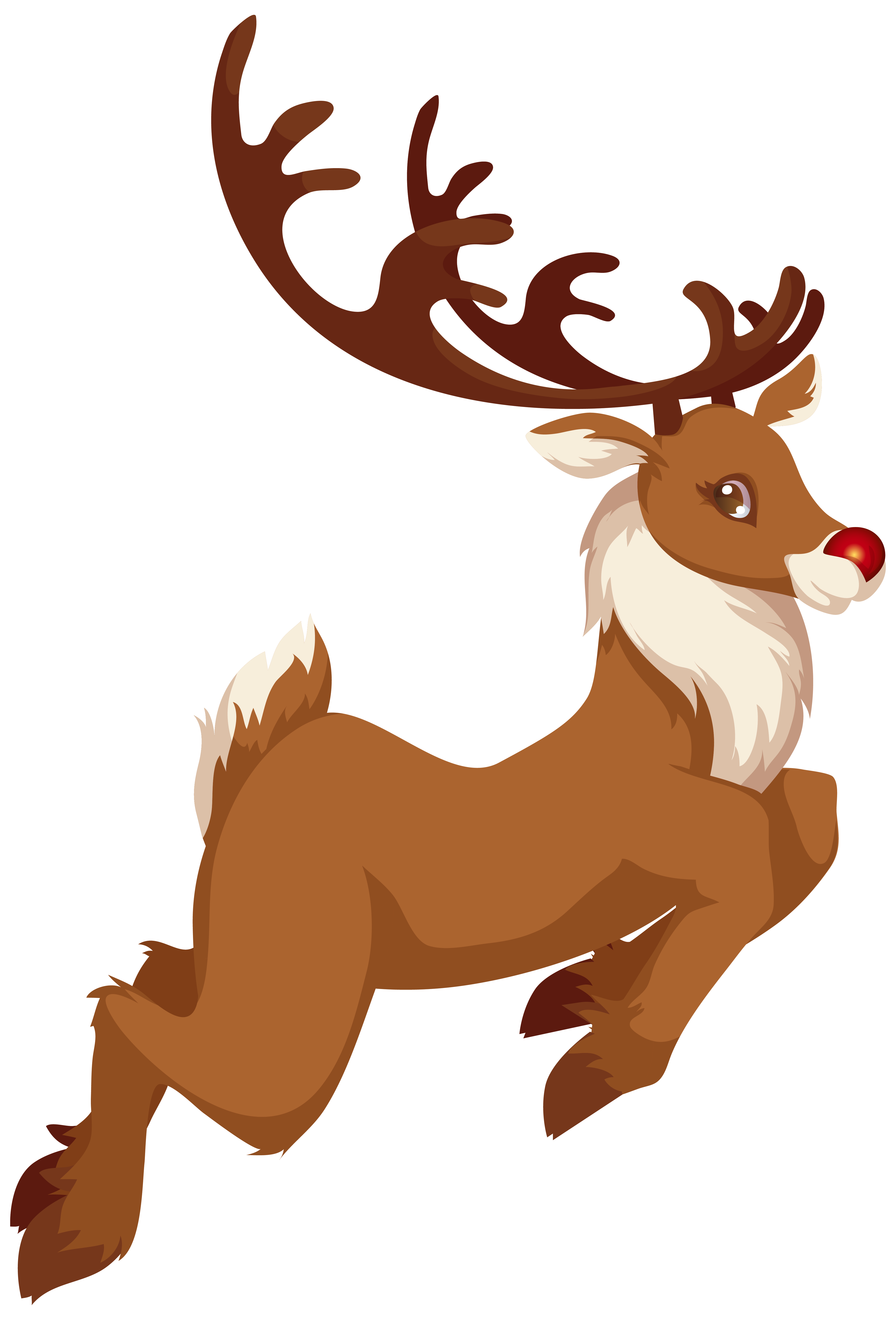 Christmas Rudolph PNG Clip Art Image.