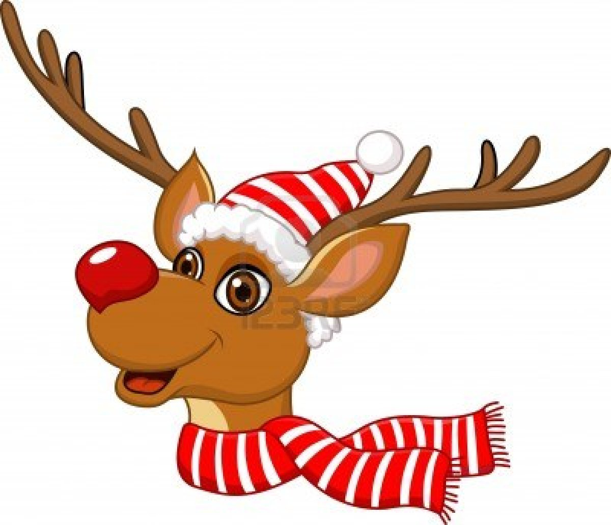 Free christmas clipart rudolph the red nosed reindeer.