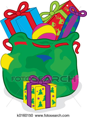 Christmas sack Clipart.