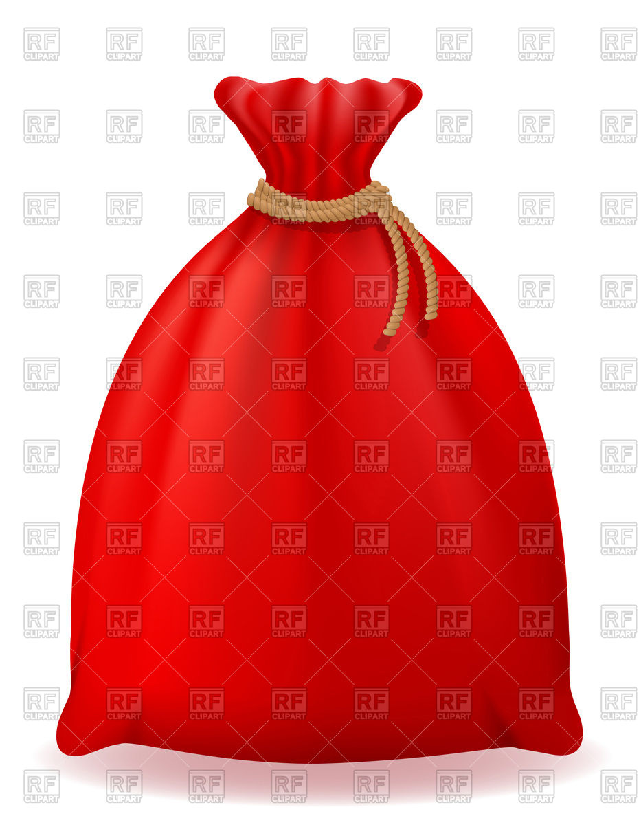 Red Christmas bag of Santa Claus Stock Vector Image.
