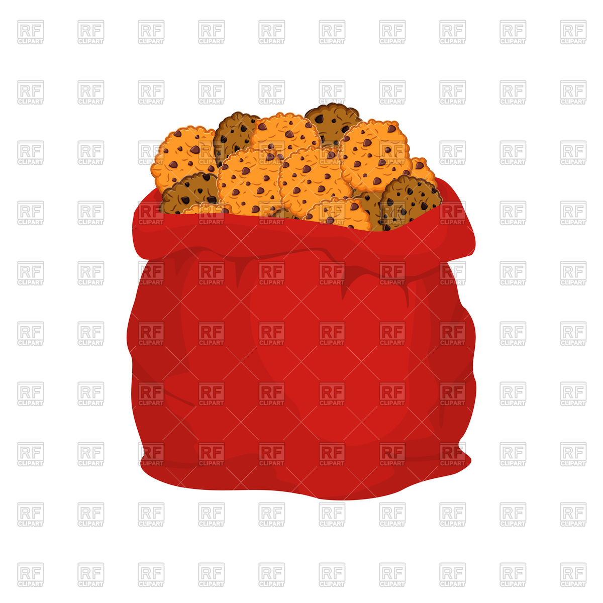 Christmas sack and cookie Stock Vector Image.