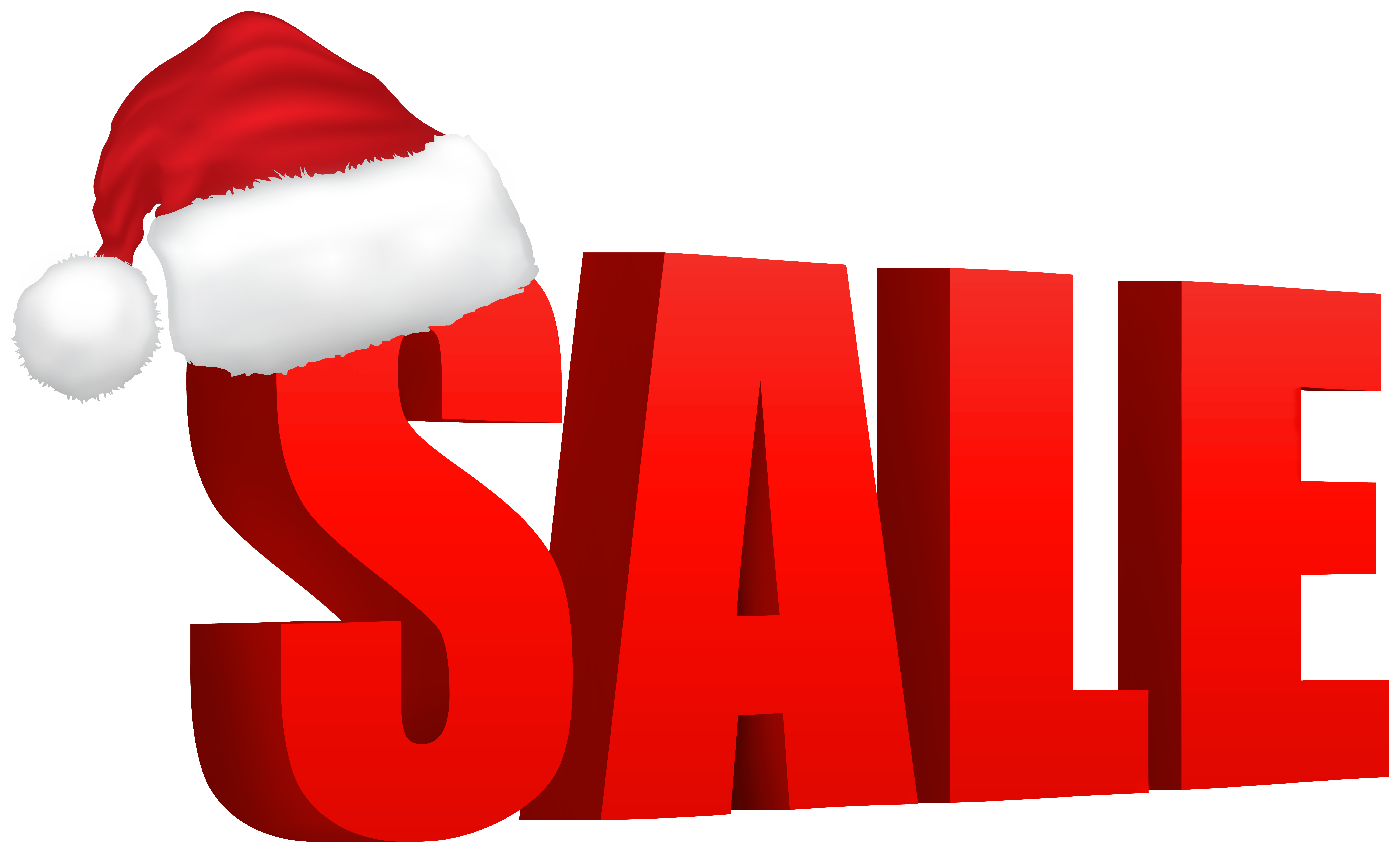 Red Christmas Sale Clip Art Image.