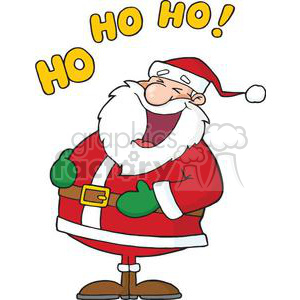 laughing Santa Claus Ho Ho Ho clipart. Royalty.