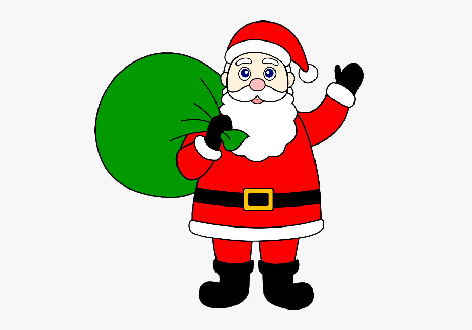 Graphic Free Stock Santa Claus Clipart Black And White.