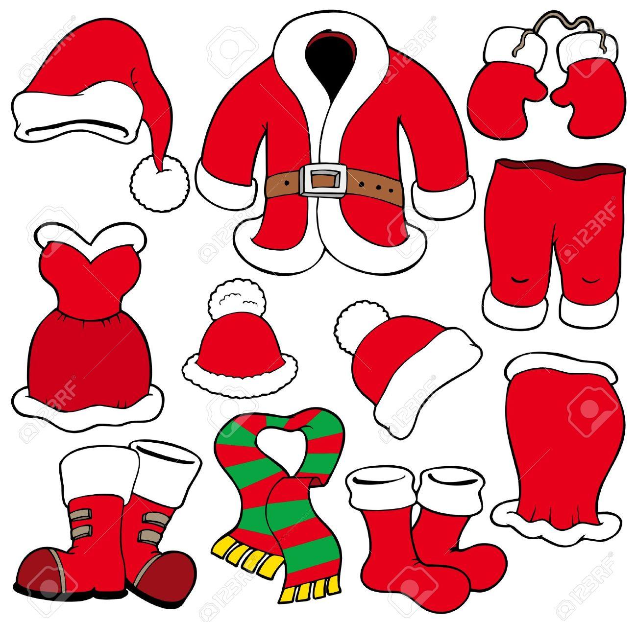 Various Santa Claus Clothes.