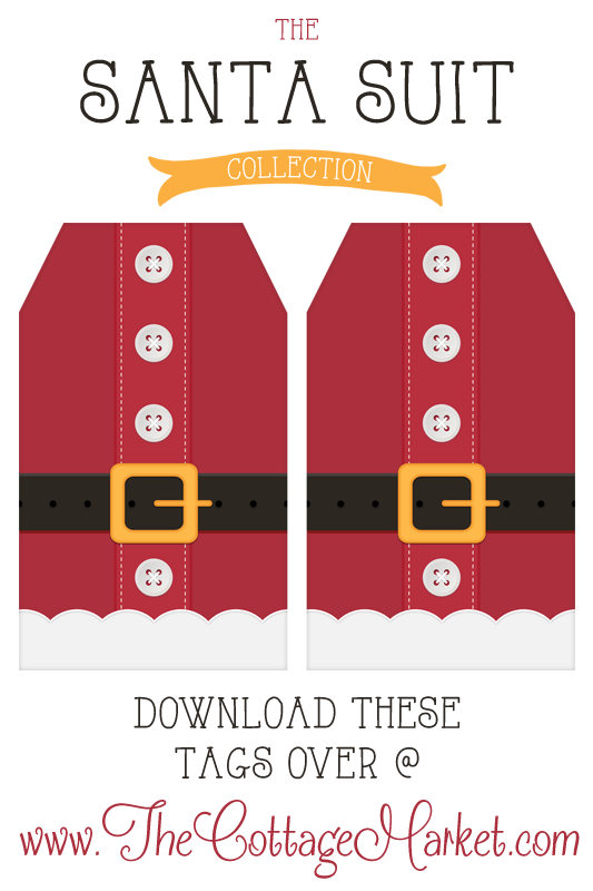 Free Printable Santa Suit Holiday Gift Tags a Gift to you from.