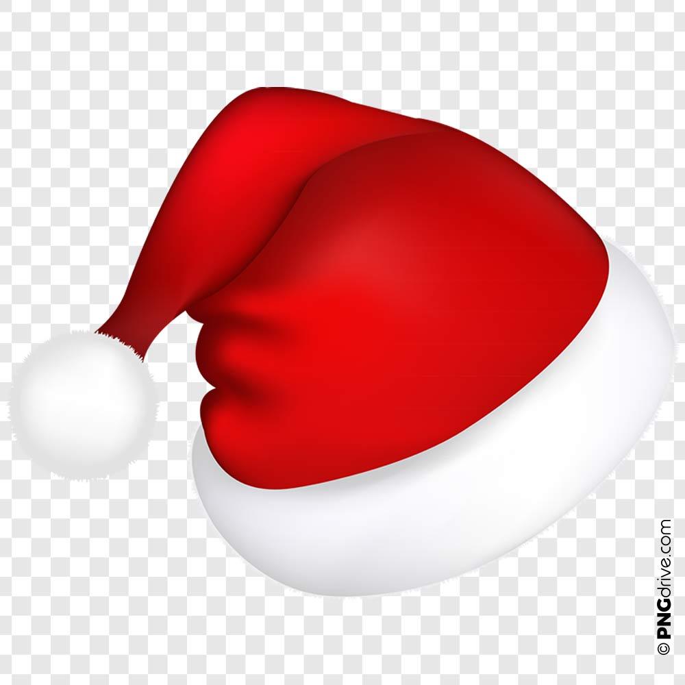 Christmas Santa Hat PNG Image.