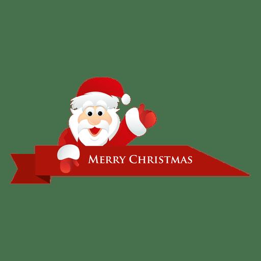 Christmas santa ribbon.
