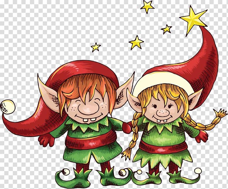 Wedding invitation Santa Claus Christmas elf Save the date, Elf.