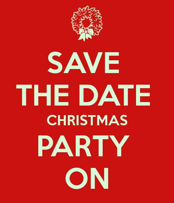 Christmas party save the date holiday party clipart.