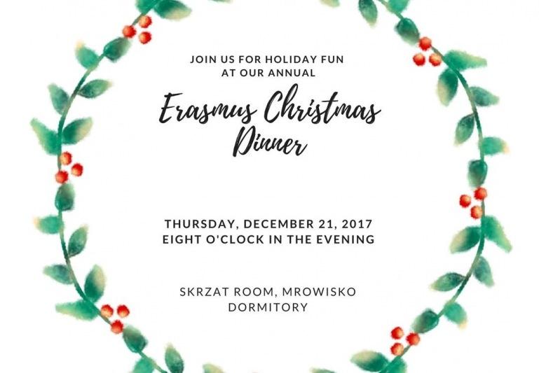 Save the date: Erasmus Christmas Dinner.