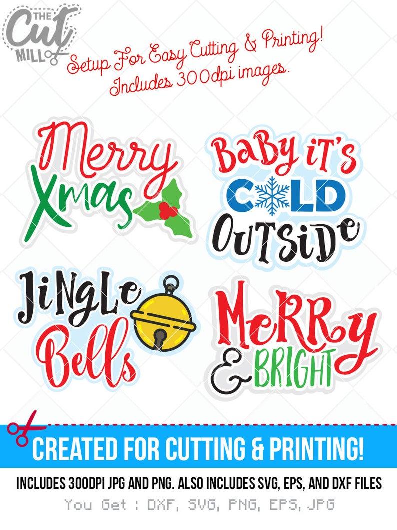 christmas saying svg, christmas sayings dxf, xmas svg, jpg, png, eps, ai  cutting files, clip art, printable, Silhouette Cameo, Cricut.