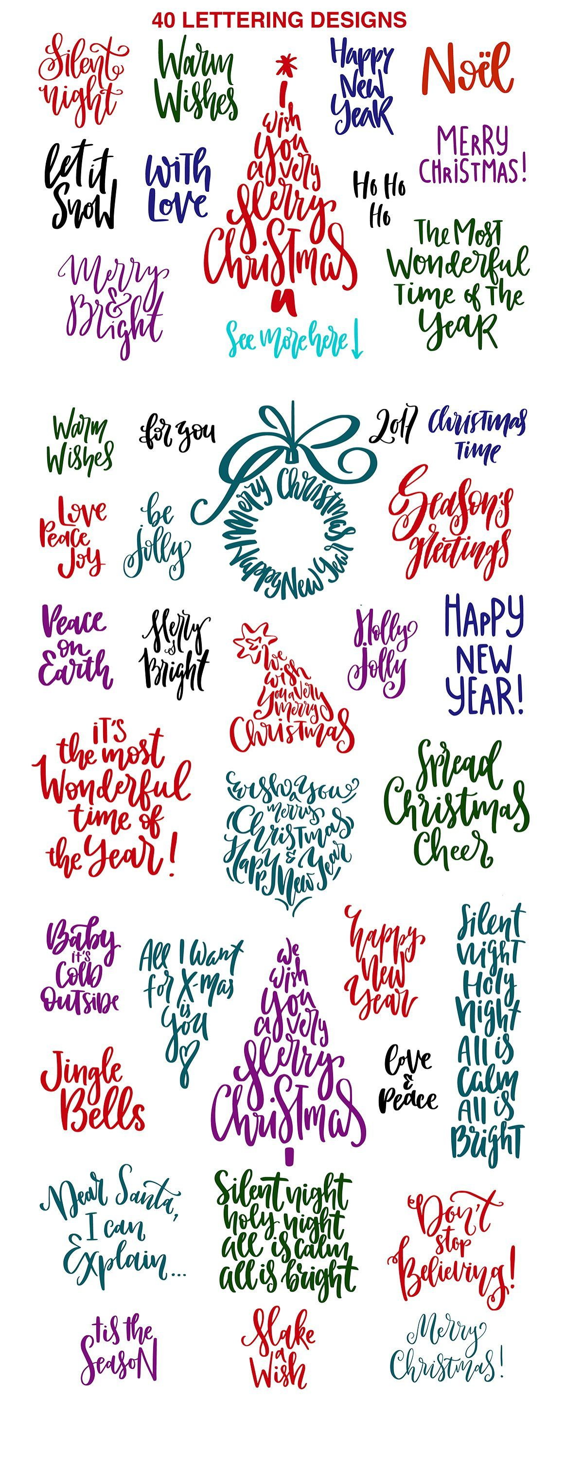 Christmas Lettering Quotes & Clipart.