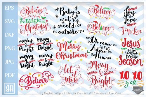 Christmas Sayings Bundle SVG, Christmas Sayings svg, Christmas bundle.