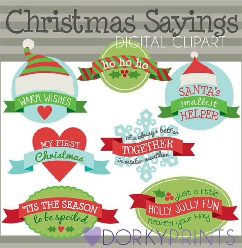 Christmas Clipart Christmas Sayings.