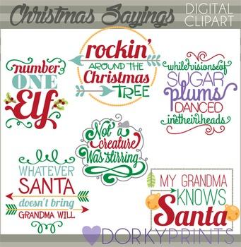Christmas Sayings Clip Art.