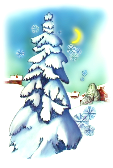 Free Christmas Scenes Clipart.