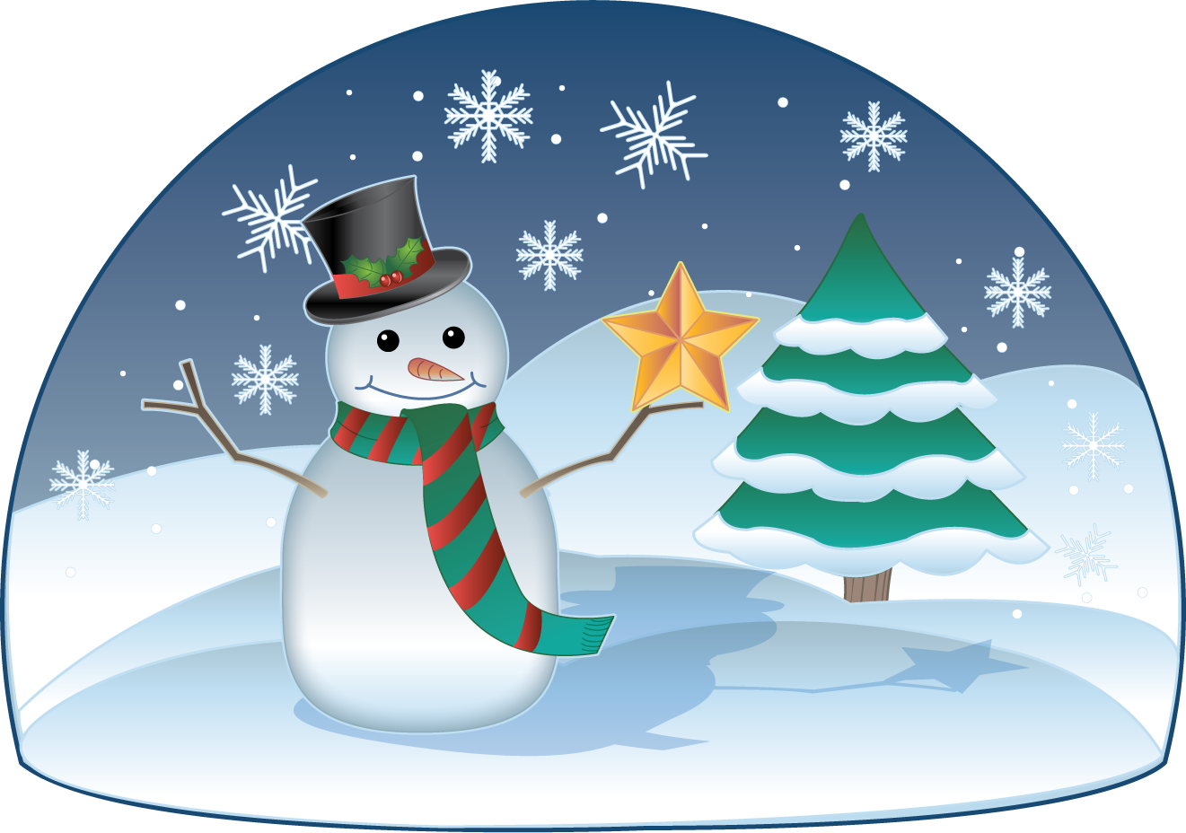 Winter holiday scene clipart clip art free clip art.
