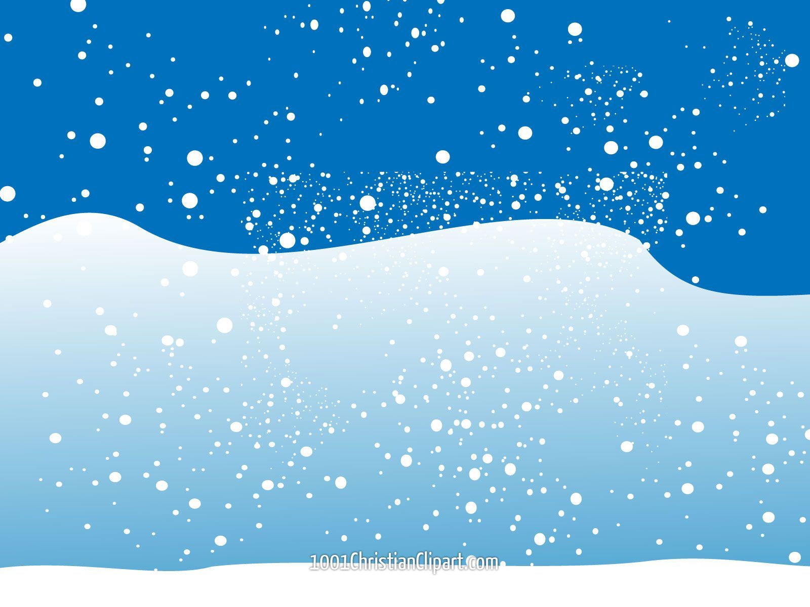 Christmas Winter Snow Scene Clip Art.