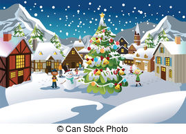 Christmas scene Illustrations and Clip Art. 19,067 Christmas scene.