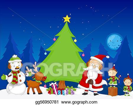 Christmas scene clipart 7 » Clipart Portal.