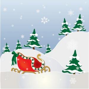 Christmas Scene Clipart.