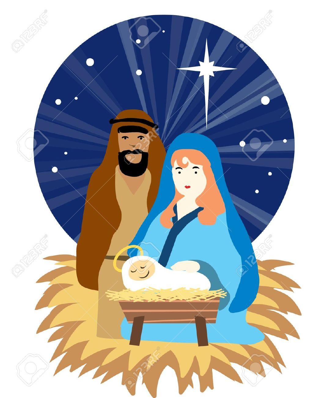 Christmas Scenes Jesus Clipart.