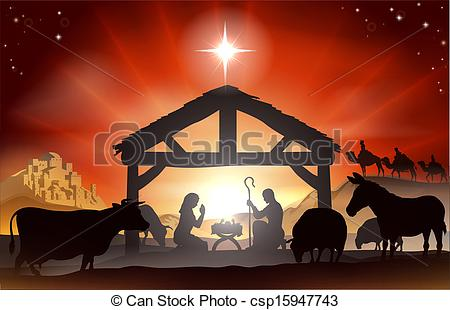 red christmas nativity clipart #18